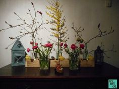 Deko-Centerpiece aus Palettenholz / Decoration made with pallet wood / Upcycling