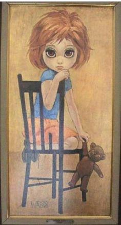 big eye girls art | Big Eye (Eyed) Girl: Vintage Art