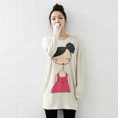 lovemark  Printed Wool Blend Knit Dress