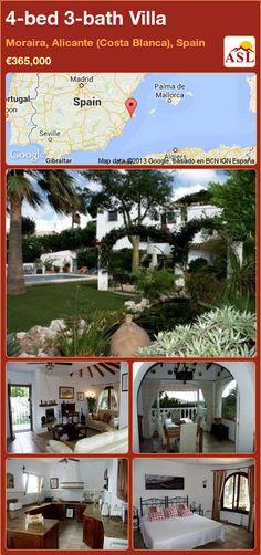 4-bed 3-bath Villa in Moraira, Alicante (Costa Blanca), Spain ►€365,000 #PropertyForSaleInSpain