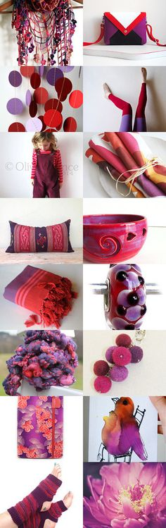 #treasury #Purple and #red on #etsy #gifts #fall