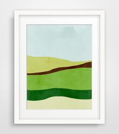 Green Abstract Art Mid Century Modern Art Print by evesand on Etsy, $21.00