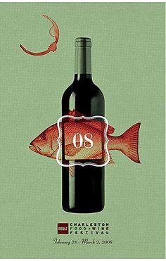 Jay Fletcher   Poster design for 2008 Charleston Food & Wine Festival
