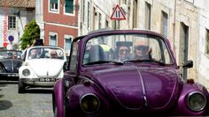 Once we arrive to #Lisbon it's all about the #hills and #narrow streets!  #vintage #car #beetle #vw