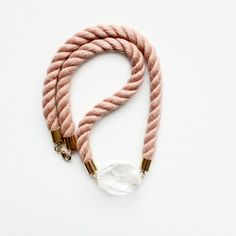 Twisted Rope and Quartz Necklace by the Vamoose