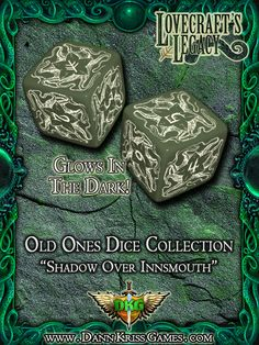 """""""Shadow Over Innsmouth"""" Old Ones Dice Design"""
