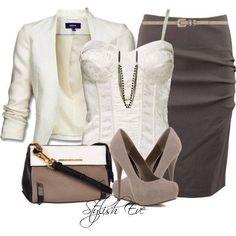 Cute cami with skirt n blazer