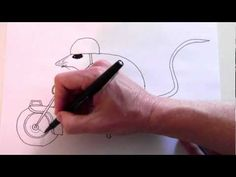How to draw the mouse and the motorcycle - YouTube. we are doing this book for one school pne book!!!!