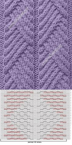 Knitting Patterns Stitches Knitting_Stitch -- This beautiful stitch is a simple crossover stitch. The pattern is outstandin.simple-to-create traveling diagonal cable patternUse one band w heavy duty yarnIsn't nice when you find a stitch pattern with Designer Knitting Patterns, Knitting Machine Patterns, Cable Knitting, Loom Knitting Patterns, Knitting Charts, Knitting Designs, Knitting Yarn, Knitting Projects, Stitch Patterns