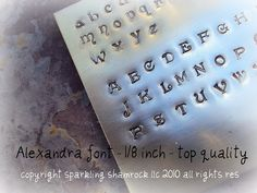 new designer font uppercase 6mm steel metal jewelry stamps alphabet letter set in 14