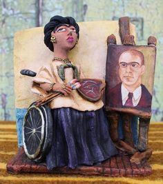Frida Kahlo & Diego Rivera Wedding Portrait by Jose Aguilar Mexican Folk Art