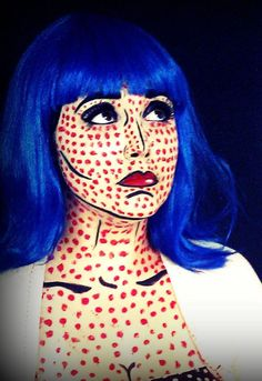Comic book makeup by Stephani Walker from Stephani's Sassy Faces