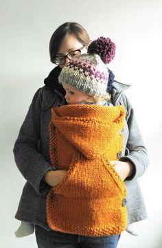 Baby Knitting Patterns Knitting Pattern // Babywearing Coat Extender von KniftyKnit...