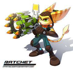 Ratchet's guns are always bigger than him