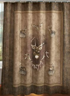 HORSE INSTEAD OF DEER ON TAN MUSLIN Cabelas Whitetail Ridge Shower Curtain