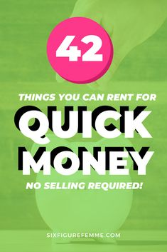 Need money now? Here are 42 things you can rent for instant cash. All without having to give up the things you love! Money Now, Make Money Fast, Make Money Blogging, Money Tips, Make Money Online, Personal And Professional Development, Sharing Economy, Instant Cash, Fast Cash