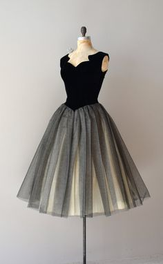 vintage 50s party dress / 1950s dress / Bona Nox dress