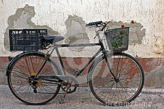 Red roses in basket of old rusty bicycle 2 by Kenny1, via Dreamstime
