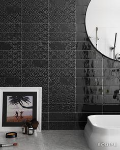 Country Anthracite, Decor Brocade Anthracite 6,5x20. #architecture, #architect, #bath, #bathroom tile, #ceramic tile, #ceramic tiles, #contemporary, #contractor, #design, #house, #interior design, #interior designer, #kitchen, #kitchen tile, #modern, #tile, #traditional, #brick, #vanguard, #modern, #traditional, #brick, #multiformat, #trend, #ceramics, #equipe, #equipe cerámicas