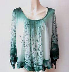 Una #blusa con un #diseño natural y fresco.