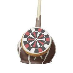 Red and Black Dartboard Cake Pops
