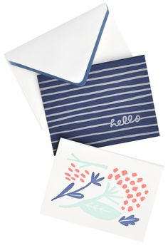 Hydrangea Hello Boxed Card Set