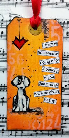 There's  no sense doing a lot of barking if you don't really have anything to say.