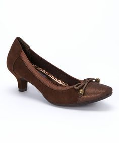 This Metallic Brown Belicia Pump by Rialto is perfect! #zulilyfinds