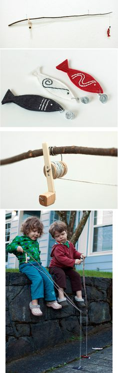 Make this magnetic fishing rod set. | 39 Coolest Kids Toys You Can Make Yourself
