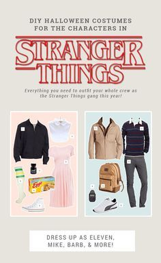 DIY Stranger Things Halloween Costume Ideas - Where to buy everything you need for these DIY Halloween costumes for couples or groups for cheap. Includes Eleven, Mike, Dustin, Lucas, and Barb. Barb Stranger Things Costume, Stranger Things Funny, Eleven Stranger Things, Meme Costume, 90s Costume, Couple Halloween Costumes, Diy Halloween Costumes, Costume Ideas, Zombie Costumes
