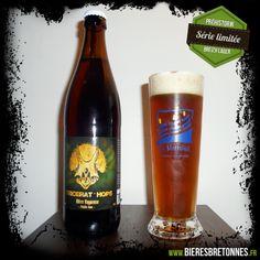 Découvrez la Tricérat'hops, une bière bretonne de type lager produite par la brasserie Tri Martolod ! Attention, quantité limitée !