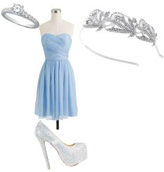 """Cinderella inspired dress"" by gewankelman on Polyvore"