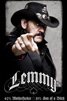 Poster MOTORHEAD - Lemmy 49% Motherfucker
