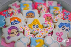 Bubble Guppies cookies | birthday party favors