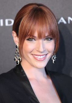 Get hair-inspired by Amanda Righetti's gorgeous color and stunning fringe.