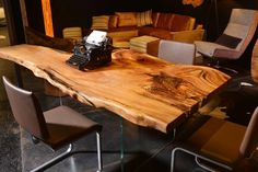A combination of wooden furniture, wall elements, veneer lamps and high-end upholstery: our Exhibition Stand at Bauen+Wohnen Salzburg Salzburg, Wooden Furniture, Designer, Lamps, Upholstery, Dining Table, Home Decor, Tree Trunk Table, Timber Wood