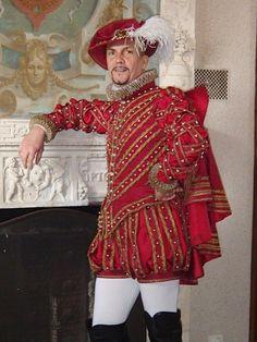 Elizabethan men's costume from costume maker Xavier from France