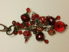 Romantic Love Red Chunky Charm for Bag Purse by ThePaperStitchery, $25.00