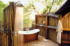 Image result for outdoor bath