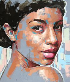 """""""Summer's Smile"""" - Jimmy Law, acrylic on canvas, 2015 {figurative #expressionist…"""
