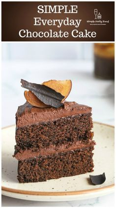 One bowl, one spoon is all it takes to make a deep rich chocolate cake that will become your only go to cake recipe. #birthdaycake #chocolatecake #cakerecipe #easycakerecipe #simplepartyfood