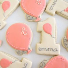 A cookie decorating diary. How to decorate sugar cookies with royal icing. Heart Cookies, Iced Cookies, Cut Out Cookies, Royal Icing Cookies, Cupcake Cookies, Sugar Cookies, Man Cookies, Cupcakes, First Birthday Cookies