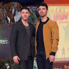 Joe Jonas is wearing our suede leather bomber for Jumanji promotion