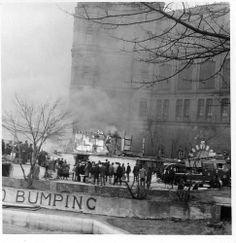 New Brighton Tower fairground fire 1966 by Picture Esk, via Flickr