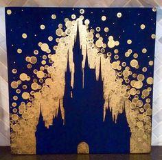Disney World inspirado pintura / / por GreenOnTheVineDesign en Etsy
