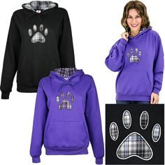 Plaid Paw Hooded Sweatshirt, $34.99 at The Animal Rescue Site