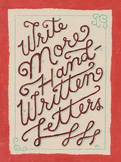 Write More Handwritten Letters - Hand-Lettering Love : Mary Kate McDevitt
