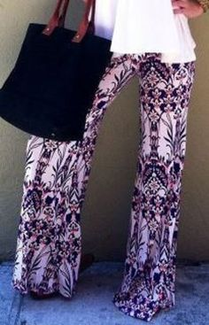 So Gorgeous! Love this Color! Chic and Comfy Purple Mid-Waisted Floral Print Loose-Fitting Women's Exumas Beach Pants #Chic #Comfy #Purple #Floral #Print #Stretch #Beach #Pants #Summer #Outfit #Ideas