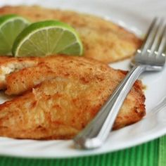 Full of flavor and a hint of sweetness: Honey Lime Tilapia.