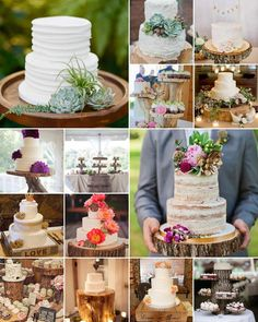 Wooden cake stands bring a lovely organic and rustic touch to the table!